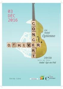 Affiche concert d'hiver 2016